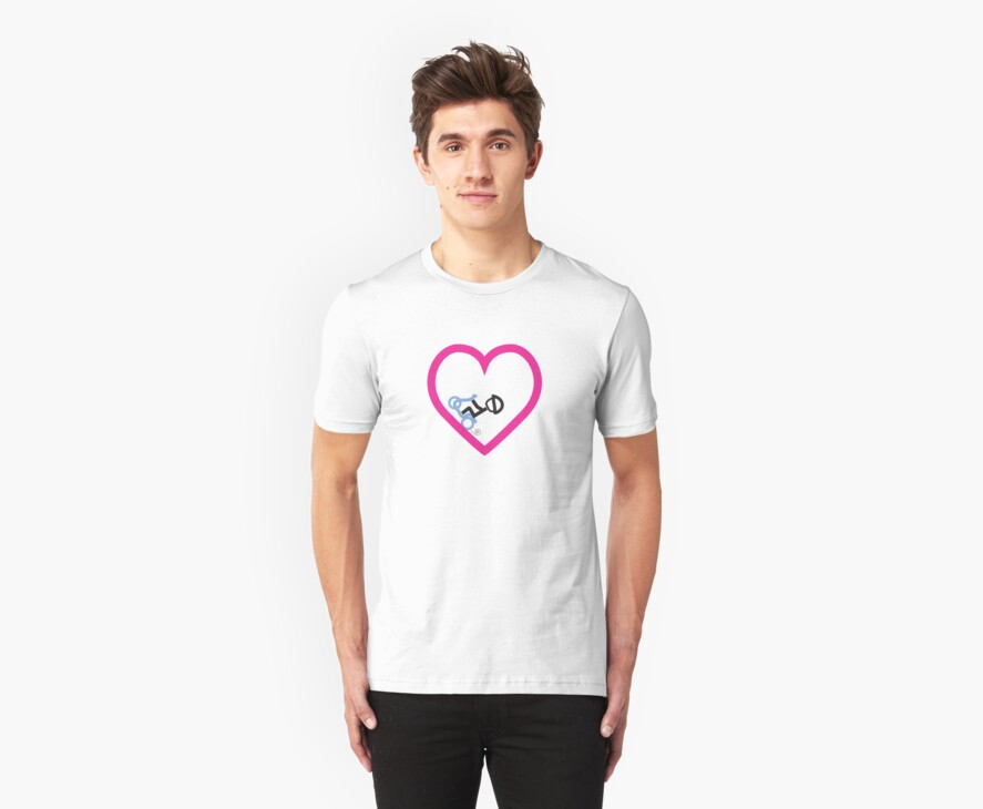 Scootery Boy series - valentines t-shirt by go sugimoto