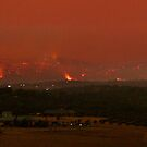 Victorian Fires - Mount Disappointment, Hume Range near Whittlesea, Kinglake West. by Ern Mainka
