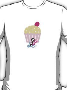 Scootery Boy series - runaway cupcake couple t-shirt T-Shirt