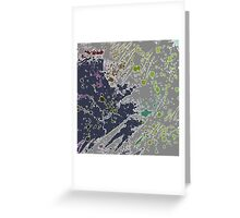 Cool Perspective - Gray Green Greeting Card