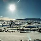 Winter sun over Swaledale by clickinhistory