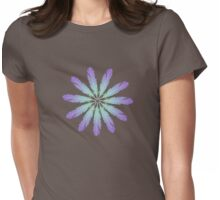 Feather Daisy Flower Womens Fitted T-Shirt