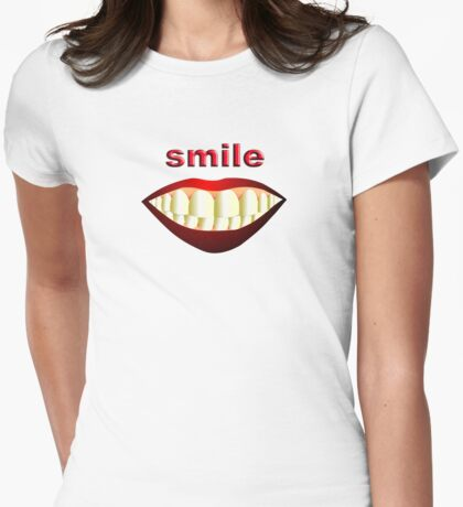 SMILE Womens Fitted T-Shirt