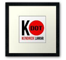 """K - Dot Kendrick Lamar"" Red Dot Framed Print"
