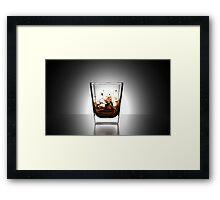 Whiskey On The Rocks Framed Print