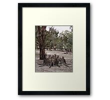 the Mob Framed Print