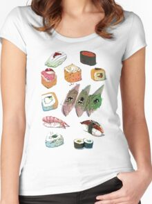 Sushi set Women's Fitted Scoop T-Shirt