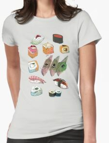 Sushi set Womens Fitted T-Shirt