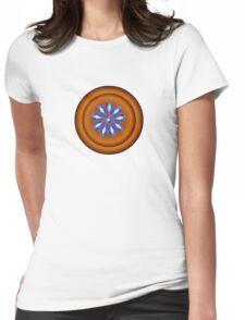 FLOWER BUTTON Womens Fitted T-Shirt