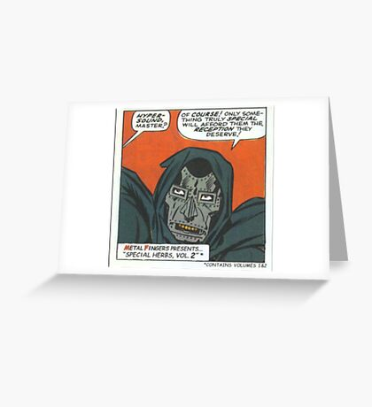 MF Doom Special Herbs Greeting Card