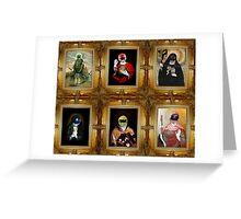 Mighty Morphin' Saints Greeting Card