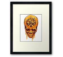 Yellow Skull Framed Print
