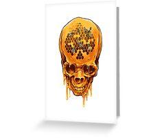 Yellow Skull Greeting Card