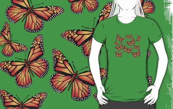 Butterflies: T-shirt by Orla Cahill