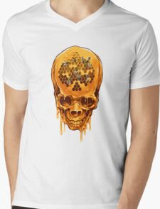 Yellow Skull Mens V-Neck T-Shirt