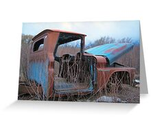 Truck in weeds c4 Greeting Card