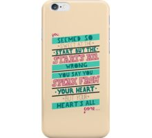 Blink 182 - Hearts all gone iPhone Case/Skin