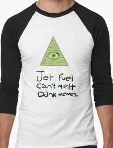 Jet Fuel Can't Melt Dank Memes Men's Baseball ¾ T-Shirt