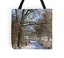 Snow Scene 3 Tote Bag