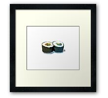 Simple rolls Framed Print