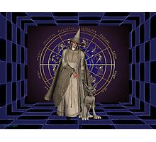 The wizard and his goblin Photographic Print