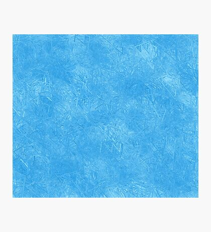 Abstract blue icy geometric background Photographic Print