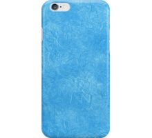 Abstract blue icy geometric background iPhone Case/Skin
