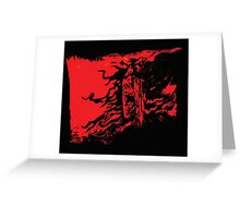 wounded samurai Greeting Card