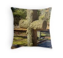 Tombstone of Wood Throw Pillow