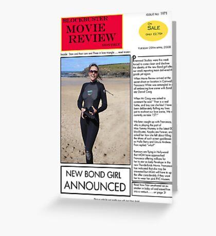 New Bond Girl Greeting Card