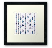 Drops of rain Framed Print