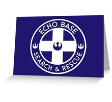 Echo Base - Search and Rescue Greeting Card