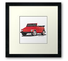 VW 181 Thing Kuebelwagen Trekker Red Framed Print