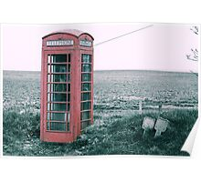 Old Country Phone box Poster