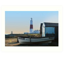 Portland Bill at dusk Art Print