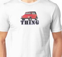 VW 181 Thing Kuebelwagen Trekker  Red & Type Unisex T-Shirt