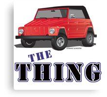 VW 181 Thing Kuebelwagen Trekker Acapulco Top Up Red Type Canvas Print