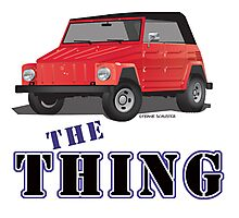 VW 181 Thing Kuebelwagen Trekker Acapulco Top Up Red Type Photographic Print