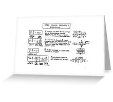 Maxwell's Equations [light] Greeting Card