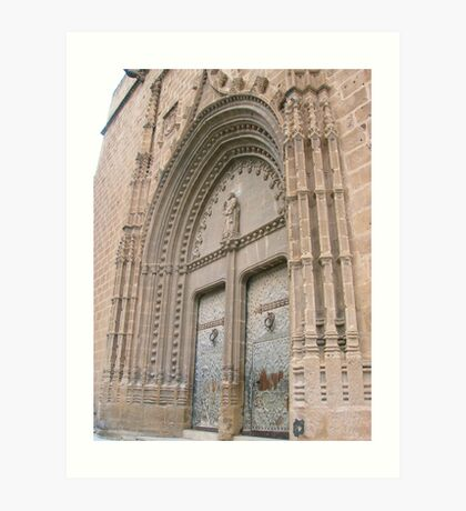 Javea Church Doors Art Print