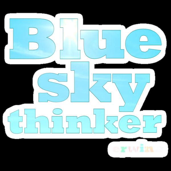 Blue Sky Thinker - dark colours by erwina