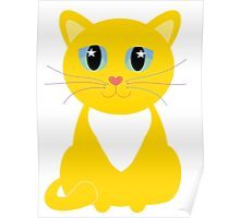 Only One Yellow Kitty Poster