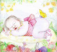 A sleeping baby girl by Vaiva Smite