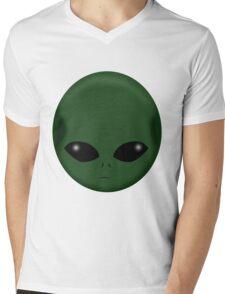 GREEN ALIEN Mens V-Neck T-Shirt