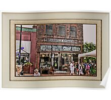 """Burrville Antiques"" ... with a matted and framed look for prints and products Poster"