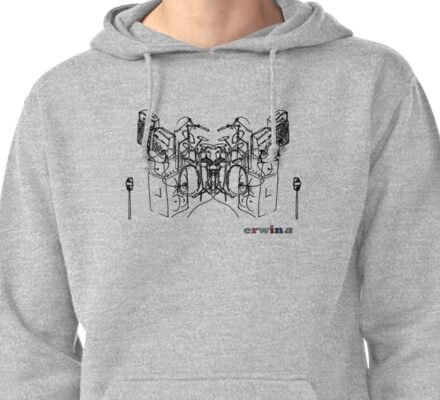 rock band Pullover Hoodie