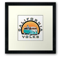 Cal Volks Split Bus Framed Print