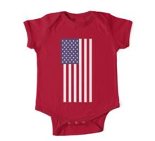 US Flag - Red One Piece - Short Sleeve