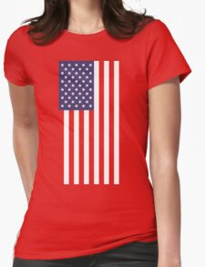 US Flag - Red Womens Fitted T-Shirt