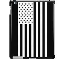 US Flag - Black & White iPad Case/Skin